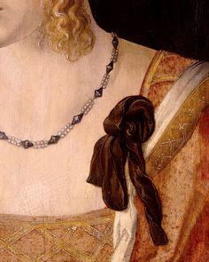 Albrecht Dürer, Portrait of a Young Venetian Woman, detail