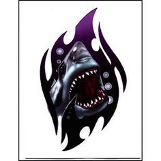 Attacking Shark Temporaray Tattoo * See this great product. (This is an affiliate link) #NoveltyGagToys