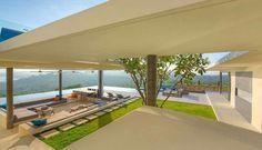 Amplia terraza con una bella vista.