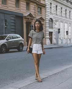 LOTD: Check out our similar items here to get the look. #StripesinVienna #HoneynSilk