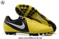 Authentic Nike CTR360 Maestri III AG Yellow Black White 2014 Soccer Cleats