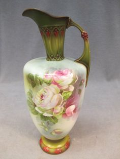Austrian Royal Wettina porcelain pitcher