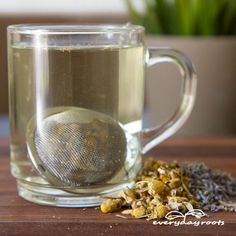 lavender and chamomile tea - good to help with sleep (and a good use of all those flower buds!)