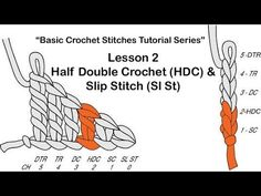 """▶ Learn How To Crochet~Lesson 2 of 6 of The """"Basic Crochet Stitches Tutorial Series"""" - YouTube"""