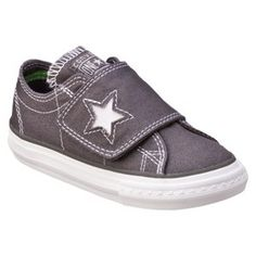 40916375544 Toddler Converse One Star One Flap Canvas Oxford Shoe - Charcoal