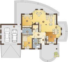 Rzut parteru projektu Dzierlatka III styl z garażem 2-st. [A]