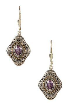 Two-Tone Byzantine Pink Amethyst Dangle Earrings by Phillip Gavriel on @HauteLook