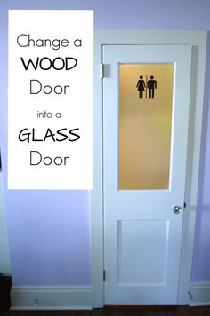 wood to glass door