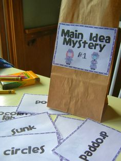 The Puzzling Main Idea contains directions and materials needed for 5 different…