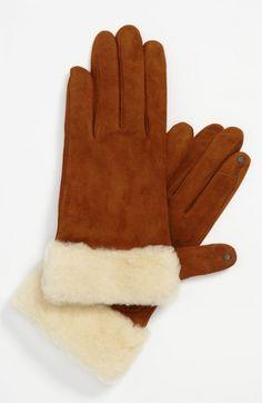 Ugg Women's Australia Kotah Shorty Tech Gloves Brown Nordstrom Exclusive   Accessory