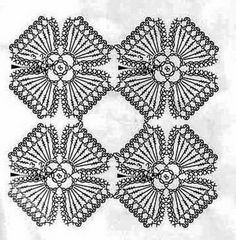Flower Pattern crochet motifs
