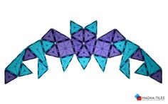 Make a flat pattern of a Magna-Tiles bat! Do you see a line of symmetry?