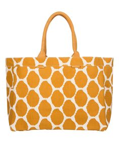 Look at this Mustard Uzbek Tote on #zulily today!