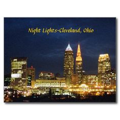 Night Lights Cleveland Ohio Postcard SOLD December 5th 2014, thank you to the Ohio buyer !