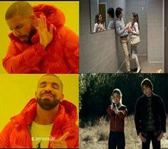 Drake, steve harrington, and kkkkkkk image