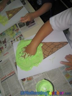 Puffy ice cream 2- More ideas for making sprinkles, etc.