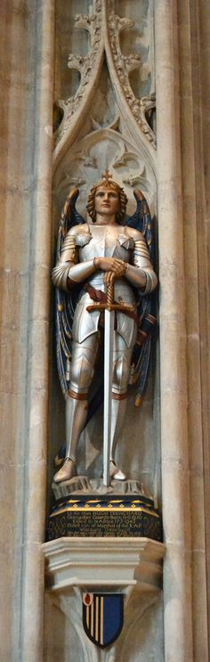 Salisbury Cathedral SFH adds: I have seen this beautiful Cathedral and remember well this amazing statue.