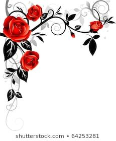 Illustration about Beautiful floral ornament. Illustration of decor, nature, abstract - 10881317 Rose Frame, Flower Frame, Flower Art, Art Floral, Floral Design, Rose Tattoos, Flower Tattoos, Rose Zeichnung Tattoo, Rose Drawing Tattoo