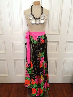 Vintage 70s floral maxi festival skirt on Etsy, $38.00
