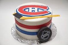 Creative Cake Decorating For A Kid's Birthday Hockey Birthday Cake, Hockey Birthday Parties, Sports Theme Birthday, Hockey Party, 40th Birthday Cakes, Creative Cake Decorating, Birthday Cake Decorating, Decorating Ideas, Montreal Canadiens