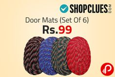 Shopclues Special Deal is offering Door Mats (Set Of 6) at Rs.99. This combo of 6 door mats will be a great addition in any home. You can place these outside the bathroom, kitchen or the main door so that the dirt on the shoes can be cleaned before entering the room. These polyester door mats are durable and easy to clean. They are reversible and can be used from both sides.   http://www.paisebachaoindia.com/door-mats-set-of-6-at-rs-99-special-deal-shopclues/