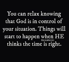 """When God says, """"It's Time."""""""
