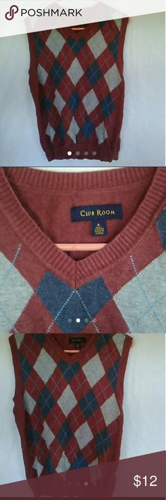 Club room sweater vest size small Gently worn No holes or stains Club Room Shirts Dress Shirts