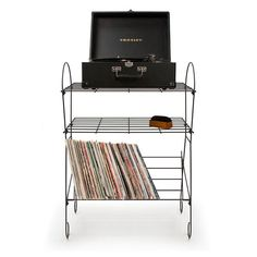 The Radio Turntable Stand is the perfect Father's Day gift for the dad that loves music! With space for a turntable, speakers, accessories and a rack for records, all the music can be in one stylish space.
