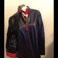 Reversible Leather Jacket -  Black/Red Black and Red leather jacket.  Hardly wore like new!  Firm price! Jackets & Coats