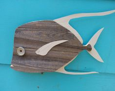 Owl wall hanging made of recycled wood by JohnBirdsong on Etsy