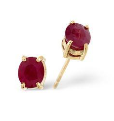 Ruby 0.73CT 9K Yellow Gold Earrings. #thediamondstoreuk #jewellery #christmas #gift