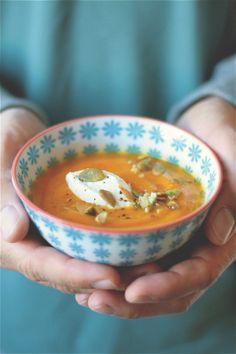 crema di zucca, mela e zafferano (butternut squash, apple and saffron velvety soup)