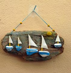 Unique diy decoration ideas with rope Pebble Painting, Pebble Art, Stone Painting, Driftwood Projects, Driftwood Art, Sea Crafts, Seashell Crafts, Stone Crafts, Rock Crafts