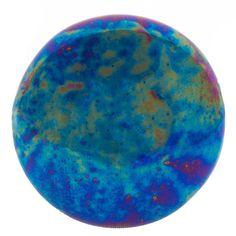 Smooth Iridescent Blue Ceramic Knob