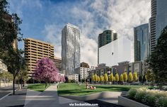 Transbay Park and Buildings Rendered
