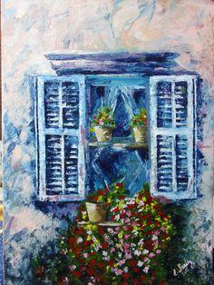 Old window, by Eberika Windows, Painting, Art, Art Background, Painting Art, Kunst, Paintings, Performing Arts, Painted Canvas