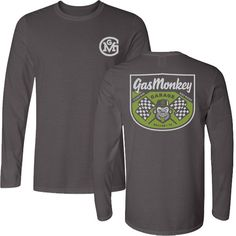 3448fff96ea Gas Monkey Garage T-shirt  Men s Fitted Long Sleeved Checkered flag tee   29.95  gasmonkeygarage  gasmonkey  richardrawlings  aaronkaufman  fastnloud