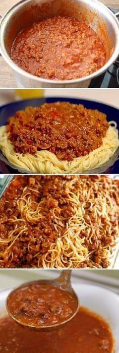 34 Ideas for pasta bolognese recipe Italian Dishes, Italian Recipes, Mexican Food Recipes, Italian Meals, Pasta Recipes, Cooking Recipes, Healthy Recipes, Recipe Pasta, Recipe Recipe