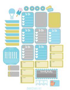 Free Valentine's planner stickers