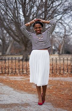 Economy of Style: Look for Less: Midi Skirt Style