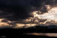 break between clouds