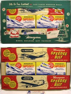 Monogram Little Air Force Assortment Gift Set - Speedee-Bilt / and Superkit and plastic model kit