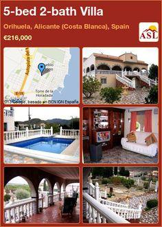 5-bed 2-bath Villa in Orihuela, Alicante (Costa Blanca), Spain ►€216,000 #PropertyForSaleInSpain