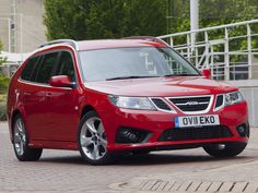 Saab 9-3 Griffin Wagon Red Color