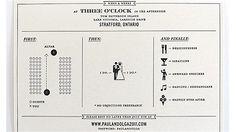 """three easy steps"" wedding invitation"