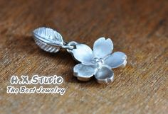Silver Sakura Flower (Cherry Blossom) Pendant, Handmade Silver Pendant, Handmade Silver Jewelry, Wholesale Available