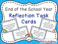 Great activity for the last couple of days of school!  Students rotate, answering questions about their school year.