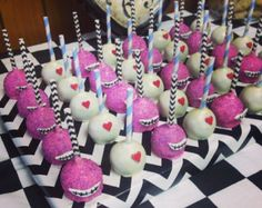 24 Alice in Wonderland Cake pops Assortment Cheshire by Nibblerz