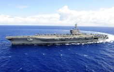 AT SEA WORLDWIDE (May – In a very rare show of United States Navy surge capabilities, six of the Navy's 11 nuclear-powered aircraft carriers are at sea right now….with a seventh almost ready to go. Uss Ronald Reagan, Uss Nimitz, Nuclear Submarine, New Aircraft, Go Navy, Military Life, Military History, Flight Deck, United States Navy