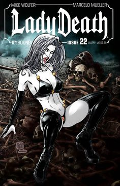 Written By Mike Wolfer , Art Marcello Mueller , cover Art Matt Martin , The traumatic events which led to the transformation of Hope into Lady Death are revealed! Somehow, under the bizarre direction Comic Art Girls, Comics Girls, Comic Book Covers, Comic Books Art, Geeks, Alternative Comics, Arte Obscura, Fantasy Art Women, Chica Anime Manga